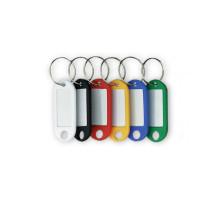 Брелок для ключей Palladium с металлическим спиральным кольцом (6 шт. в упаковке)