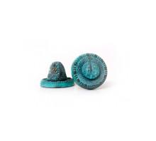 Накладка завертка Manzzaro Art BK AG античная бронза (blue)