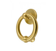 Дверное Кольцо Pasini Luna Knocker D/150 Satinato Мат.Латунь
