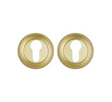 Накладка под цилиндр Punto ET TL SG/GP-4 матовое золото/золото