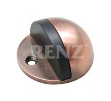 Ограничитель дверной напольный RENZ DS 44 AC медь античная