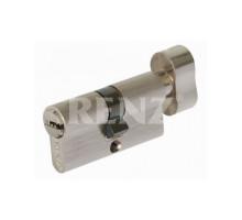 Ключевой цилиндр RENZ 60 мм ключ-завертка CS 60-H SN никель матовый