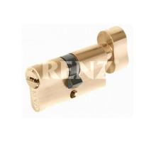 Ключевой цилиндр RENZ 70 мм ключ-завертка CC 70-H латунь блестящая