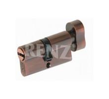 Ключевой цилиндр RENZ 60 мм ключ-завертка CS 60-H AC медь античная
