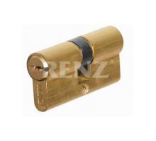 Ключевой цилиндр RENZ 60 мм ключ-ключ CS 60 латунь матовая