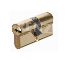 Ключевой цилиндр RENZ 60 мм ключ-ключ CS 60 латунь блестящая