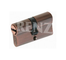 Ключевой цилиндр RENZ 60 мм ключ-ключ CS 60 медь античная