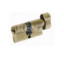 Ключевой цилиндр RENZ 60 мм ключ-завертка CS 60-H AB бронза античная