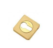Накладка квадратная на цилиндр TIXX, латунь матовая/латунь блестящая