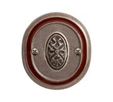 """Завертка VAL DE FIORI BK 70 AI/WBR к ручке """"Беладжио"""", серебро античное с эмалью"""