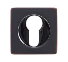 Накладка под цилиндр Vantage ET02BL/CP, черный никель-хром