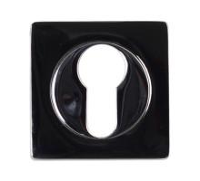 Накладка под цилиндр Vantage ET02BN/CP, черный никель-хром