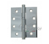 Дверная петля универсальная латунная с плоским колпачком Venezia CRS009 102x76x3 полированный хром