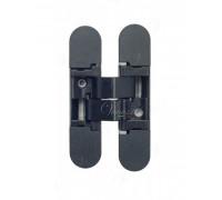 Дверная петля скрытая Venezia P101-B (KMB3-NR матовый черный) универсальная  (40Кг)