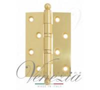 Дверная Петля Универсальная Латунная С Круглым Колпачком Venezia Crs010 102X76X3 Полированная Латунь