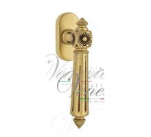 """Ручка Venezia """"CASTELLO"""" оконная FW французское золото + коричневый"""