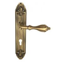 "Дверная ручка Venezia ""ANAFESTO"" CYL на планке PL90 матовая бронза"