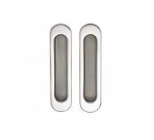 Ручка для раздвижных дверей и шкафов-купе SILLUR A-K05-V0 P.CHROME/S.CHROME хром/матовый хром