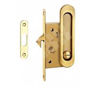 Комплекты ручек для раздвижных дверей с замком TIXX SDH-BK 501 SG латунь матовая