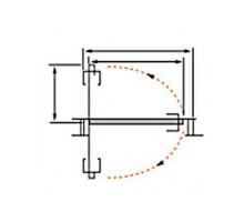 Ось свинг-системы ( Роторный механизм) MORELLI SWING ROD 211.6, высота двери 2100мм