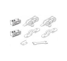 STABLE SET V-1 60KG Комплект роликов 4 колеса, вес двери до 60кг (Механизм купе) MORELLI