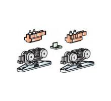 Комплект роликов SLIDING SET 1-SO 40kg MORELLI для синхронного открывания двустворчатой двери