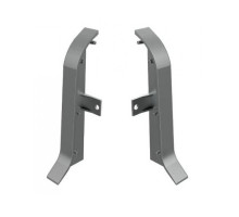 Заглушки для плинтуса АППРОФ плоского BA 500 AS, ПВХ, серый (правая+левая)