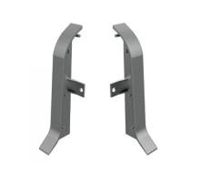 Заглушки для плинтуса АППРОФ плоского BA 600 AS, ПВХ, серый (правая+левая)