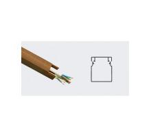 Короб (кабель-канал) ПВХ T.plast 3D Орех темный 25x25 (60м в упаковке)
