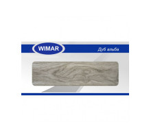 Плинтус Wimar (Вимар), ПВХ, с кабель-каналом 822 Дуб альба, 58 мм.