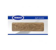 Плинтус Wimar (Вимар), ПВХ, с кабель-каналом 815 Дуб толедо, 58 мм.