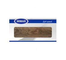 Плинтус Wimar (Вимар), ПВХ, с кабель-каналом 805 Дуб гранд, 58 мм.