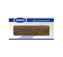 Плинтус Wimar (Вимар), ПВХ, с кабель-каналом 804 Дуб викторианский, 58 мм.