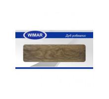 Плинтус Wimar (Вимар), ПВХ, с кабель-каналом 821 Дуб робеалис, 58 мм.
