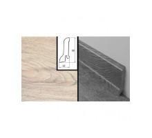 Плинтус МДФ ламинированный Quick-Step Высокий Рустикал QSHRSKR 1163 (2400х22х58mm) Доска тиковая серая затертая