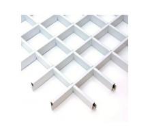 Потолок грильято Албес (100х100х40) Эконом белый матовый А902 rus 0.6
