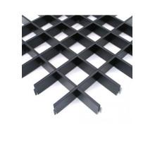 Потолок грильято Албес (100х100х40) Эконом черный А911 rus 0,6