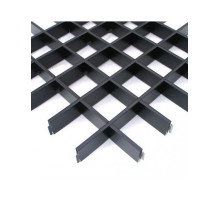 Потолок грильято Албес (100х100х40) Эконом черный А911 rus 2,4