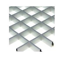 Потолок грильято Албес (100х100х40) Эконом металлик А907 rus 0,6