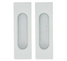 Дверная ручка купе Extreza Hi-tech «P401» белый F25 (2шт.)