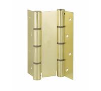 CODE 87 AO 155-50 Дверная петля пружинная двусторонняя ALDEGHI 155x50 матовая латунь