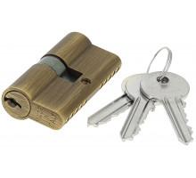 Цилиндровый механизм Extreza AS-60 ключ-ключ 25x10x25 матовая бронза F03