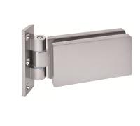 Петля AGB VITRA E50100.00.01 для стеклянных дверей матовый хром (анодированный алюминий)