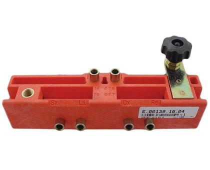 Шаблон Е001391604 для установки ввертных регулируемых петель AGB диаметром 14мм, 16мм для дверей с притвором