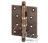 Петля дверная универсальная Aldeghi Premium 136OA403 с пешкой античная бронза мат. 102х76х3мм
