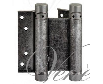 Петля дверная пружинная (барная) амортизирующая Aldeghi 101FA075B2 античное серебро 75x28x34мм