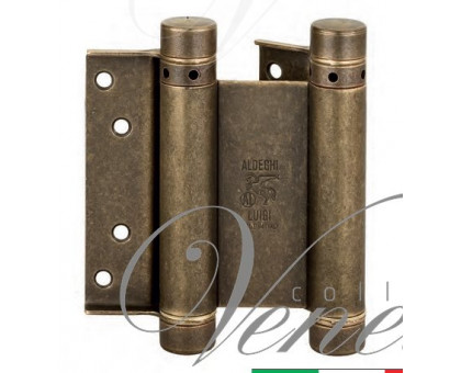 Петля дверная пружинная (барная) амортизирующая 101OA125B + тормоз Aldeghi 125x42x48мм античная бронза