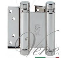 Петля дверная пружинная (барная) амортизирующая 101AN125B + тормоз Aldeghi 125x42x48мм никель