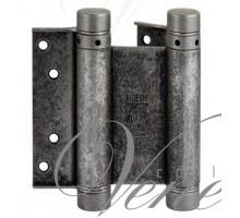 Петля дверная пружинная (барная) амортизирующая 101FA150B + тормоз Aldeghi 148x42x50мм античное серебро