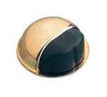 Упор дверной Amig 400-50 золото/ черный (клеевой)